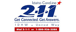 Logo: 211 Idaho CareLine